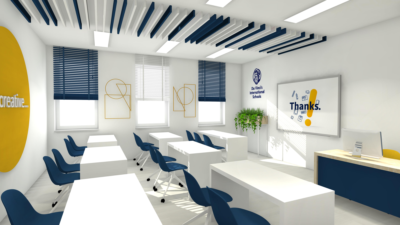 wyposażenie sali w dwujęzycznym nowoczesnym liceum w krakowie